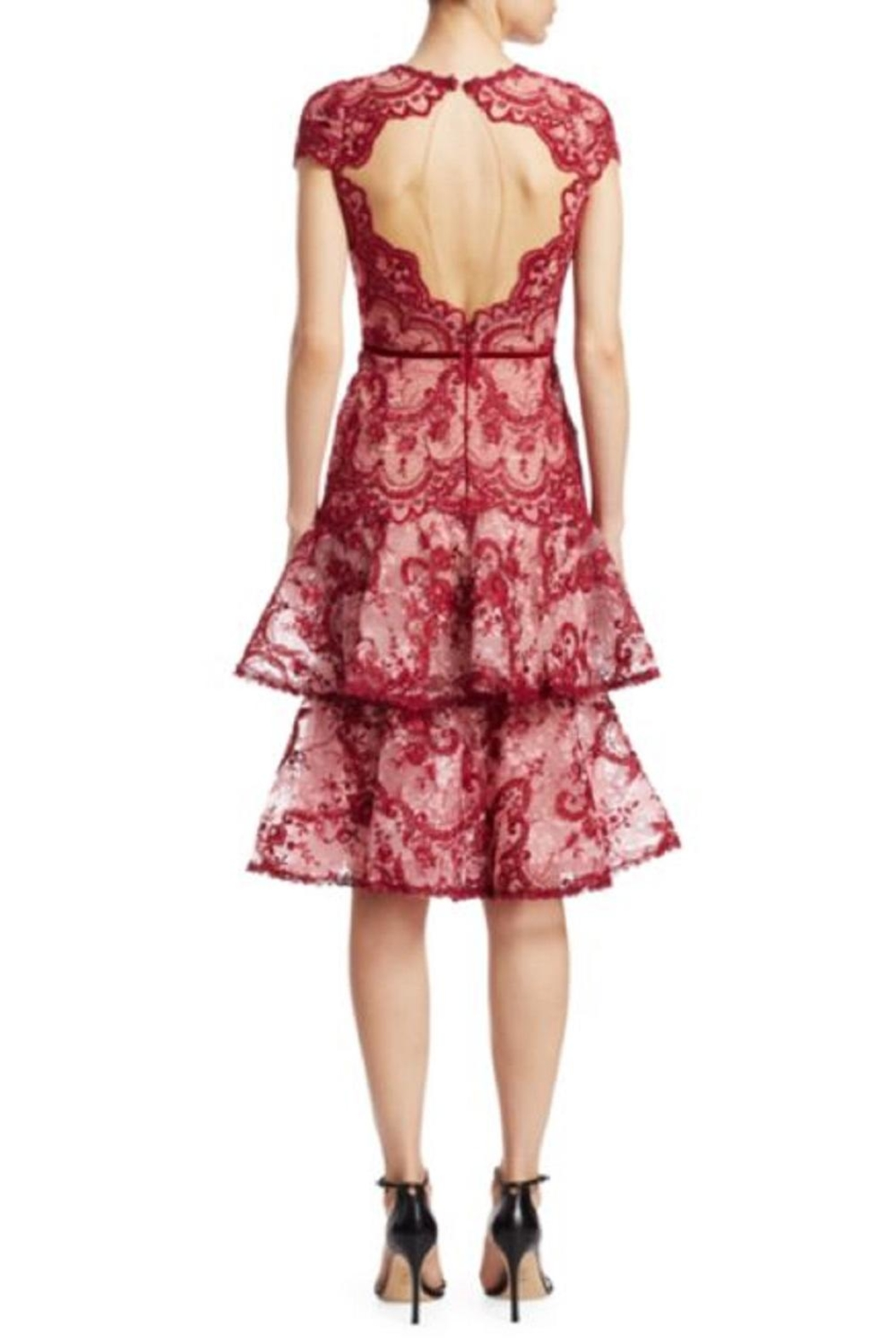 Notte by Marchesa Cap Sleeve Dress - Front Full Image
