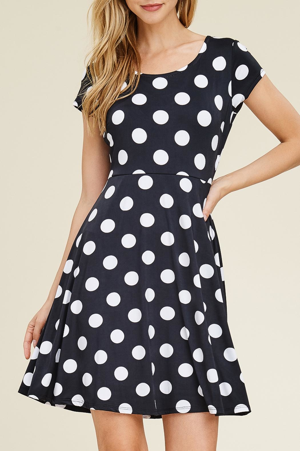 Riah Fashion Cap Sleeve Dress - Front Cropped Image