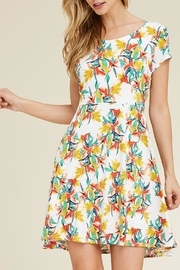 Riah Fashion Cap Sleeve Dress - Front cropped