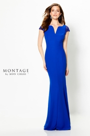 Montage Cap Sleeve Dress, Royal - Product Mini Image