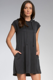 Elan  Cap Sleeve Dress With Hood - Product Mini Image