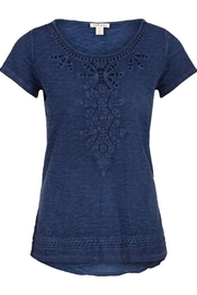 Tribal Cap-Sleeve Embroidered Top - Product Mini Image