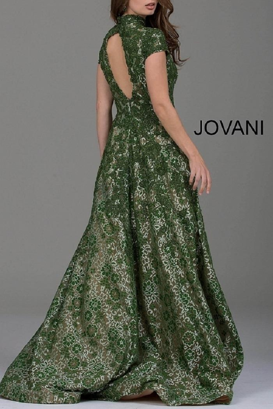 Jovani Cap Sleeve Gown - Front Full Image