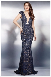 Jovani Cap Sleeve Gown - Product Mini Image