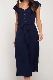 She + Sky Cap Sleeve Jumpsuit - Product Mini Image