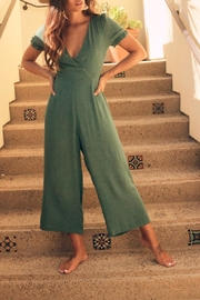 SAGE THE LABEL Cap Sleeve Jumpsuit - Front cropped