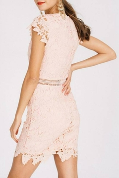 Main Strip Cap-Sleeve Lace Dress - Alternate List Image