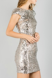 Minuet Cap Sleeve Sequin Dress - Side cropped