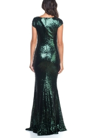 Ricarica Cap Sleeve Sequin Gown - Side cropped