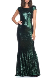 Ricarica Cap Sleeve Sequin Gown - Front full body
