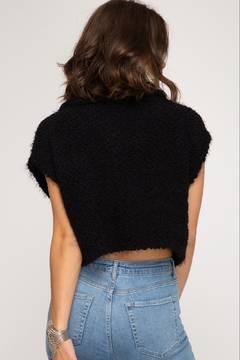 She + Sky Cap Sleeve Sweater - Alternate List Image