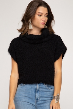 She + Sky Cap Sleeve Sweater - Product List Image
