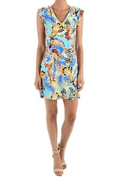 Aryeh Cap Sleeved Dress - Product Mini Image