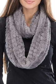 Cap Zone Beehive Embossed Faux Fur Infinity Scarf - Product Mini Image