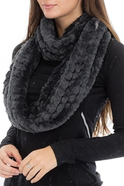 Cap Zone Beehive Embossed Faux Fur Infinity Scarf - Front cropped