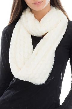 Shoptiques Product: Beehive Embossed Faux Fur Infinity Scarf