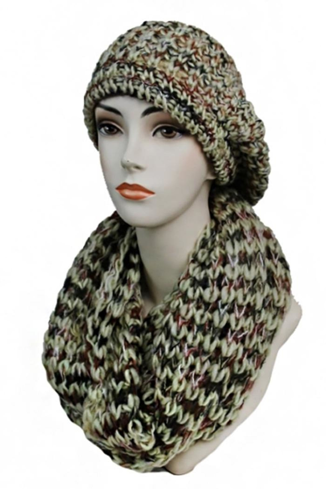 Cap Zone Beret & Scarf-Set - Front Cropped Image