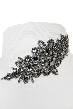 Cap Zone Black Crystal Sparkle Floral Floppy Hat - Product List Image