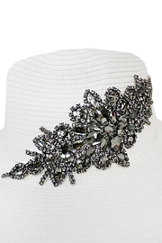 Cap Zone Black Crystal Sparkle Floral Floppy Hat - Product Mini Image