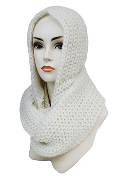 Shoptiques Product: Crochet Hooded Scarf