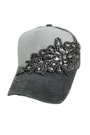 Cap Zone Crystal Rhinestone  Pigment Washed Cap - Product Mini Image