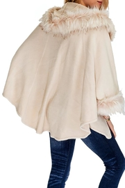 Cap Zone Faux Fur Trimmed Hooded Cape - Front full body