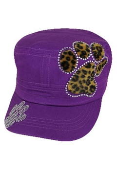 Cap Zone Fur Cheetah Paw Rhinestone Cap - Alternate List Image