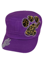 Cap Zone Fur Cheetah Paw Rhinestone Cap - Product Mini Image