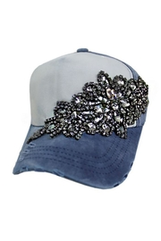 Cap Zone Gunmetal Crystal Rhinestone Cap - Product Mini Image