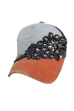 Cap Zone Gunmetal Crystal Rhinestone Cap - Alternate List Image