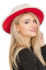Cap Zone Red Bottom Wide Brimmed Panama Hat - Product Mini Image