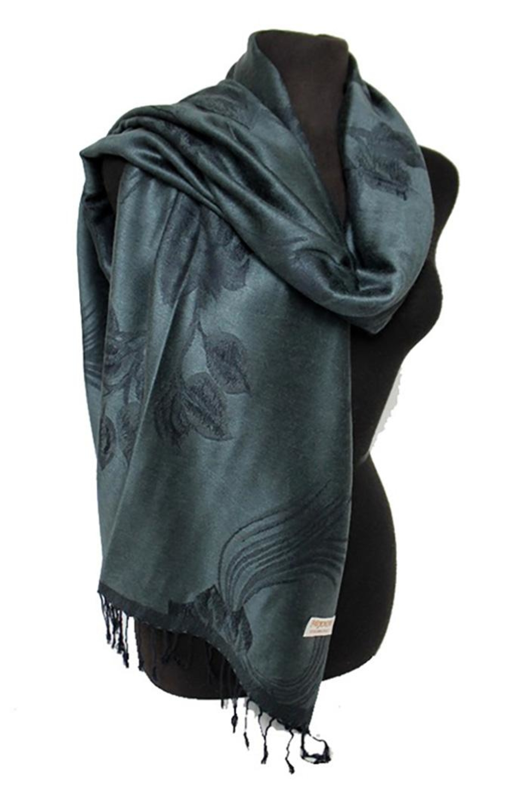 Cap Zone Silk Blend Pashmina-Scarf - Front Cropped Image