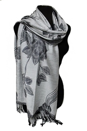 Cap Zone Silk Blend Pashmina-Scarf - Front full body