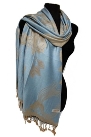 Cap Zone Silk Blend Pashmina-Scarf - Front cropped