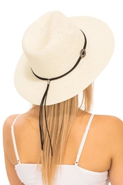 Cap Zone Silver Conch Brooch Panama Hat - Front full body