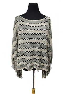 Shoptiques Product: Tinsel Accent Fringe-Poncho