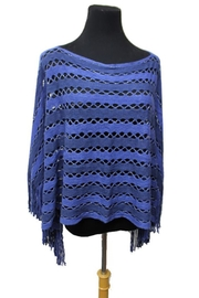 Cap Zone Tinsel Accent Fringe-Poncho - Product Mini Image