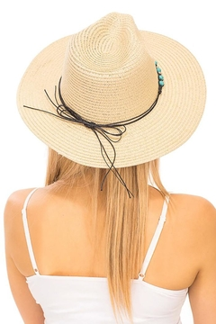 Cap Zone Turquoise Rock Gem Boho Panama Hat - Alternate List Image