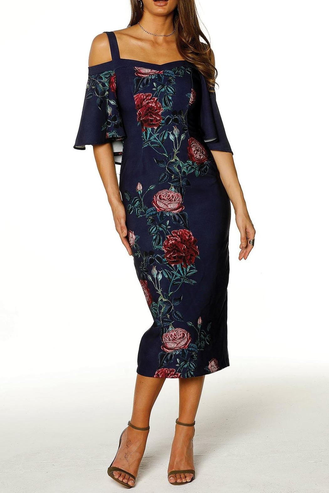 Pasduchas Cape Midi Dress - Main Image
