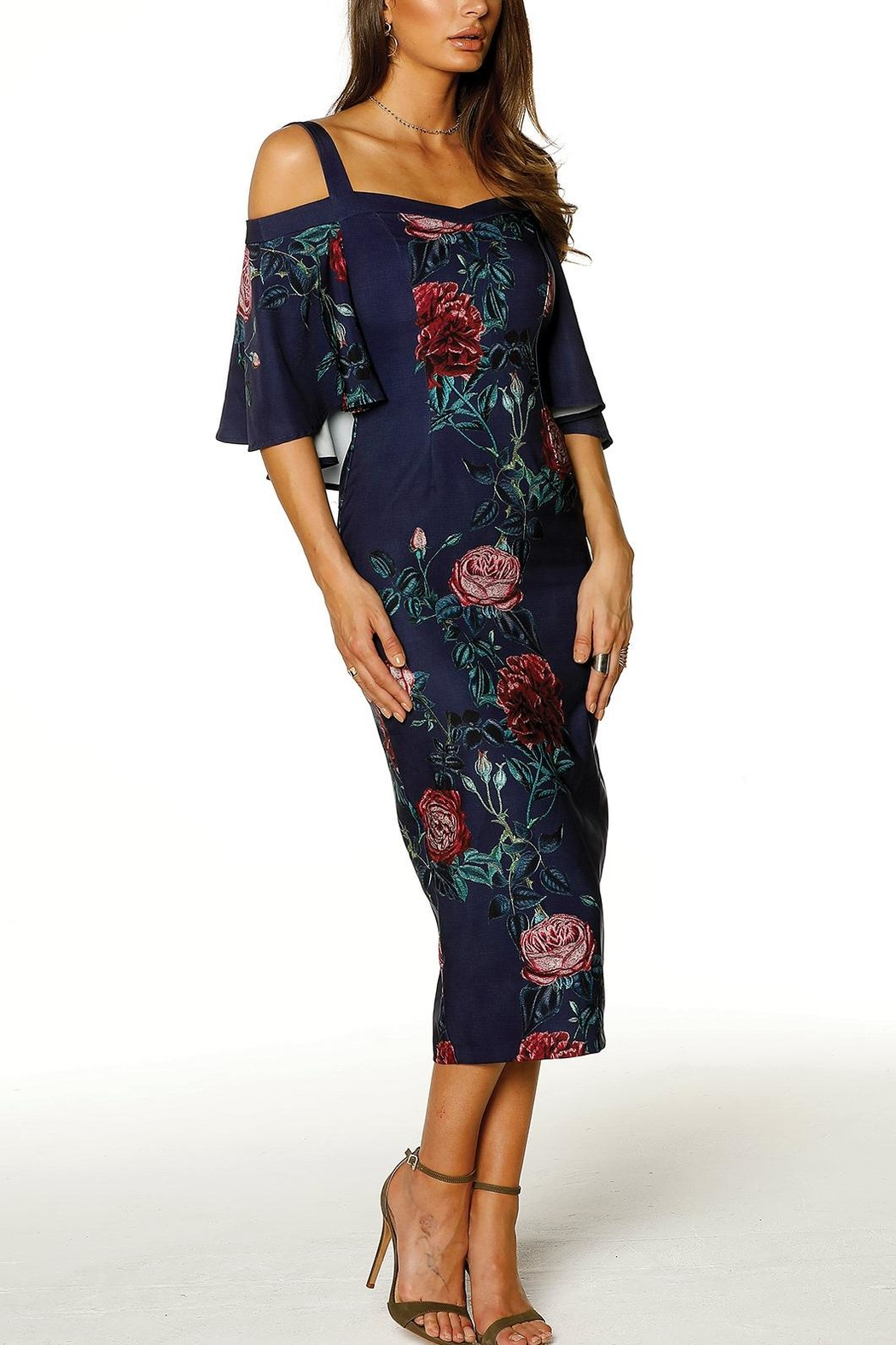 Pasduchas Cape Midi Dress - Front Full Image