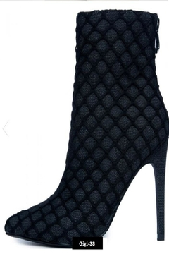 Shoptiques Product: Cape Robbin Gigi-38 Women's Heeled Booties Black