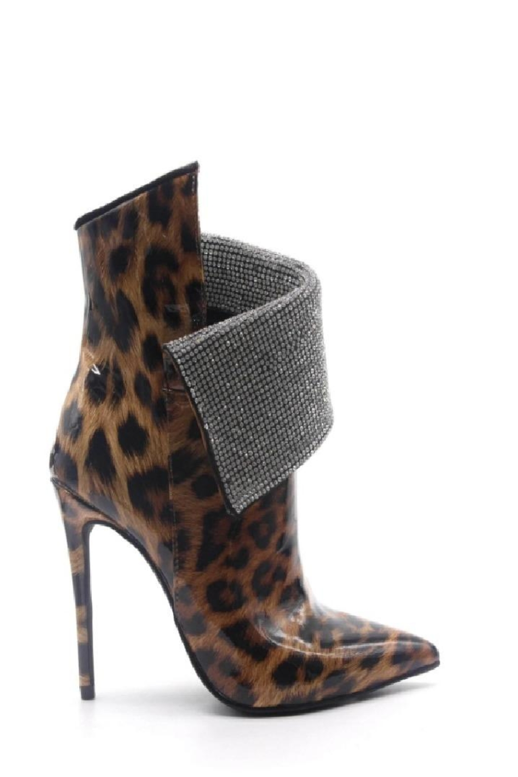 Cape Robbin Martini Leopard Stiletto High Heeled - Side Cropped Image