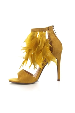 Cape Robbin Mustard Feather Heels - Product List Image