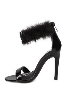 Shoptiques Product: Faux-Fur Ankle Stiletto