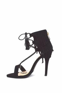 Cape Robbin Fringe Lace-Up Sandals - Product List Image
