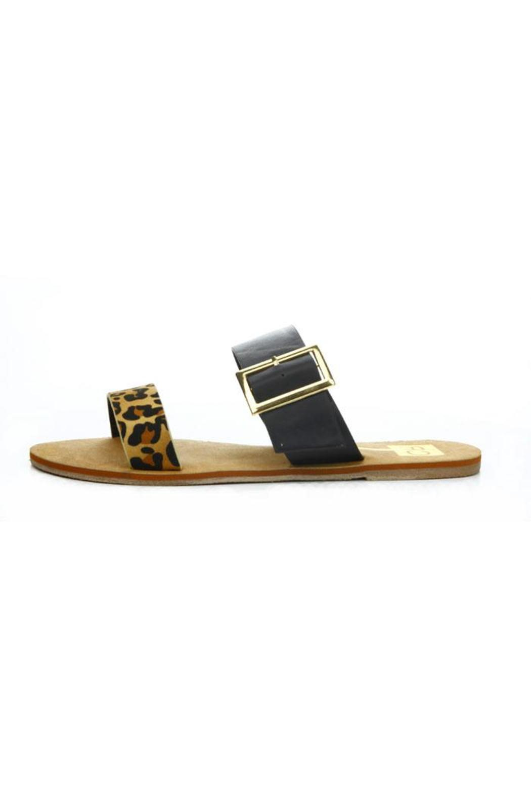 Cape Robbin Leopard Buckle Sandal - Front Cropped Image