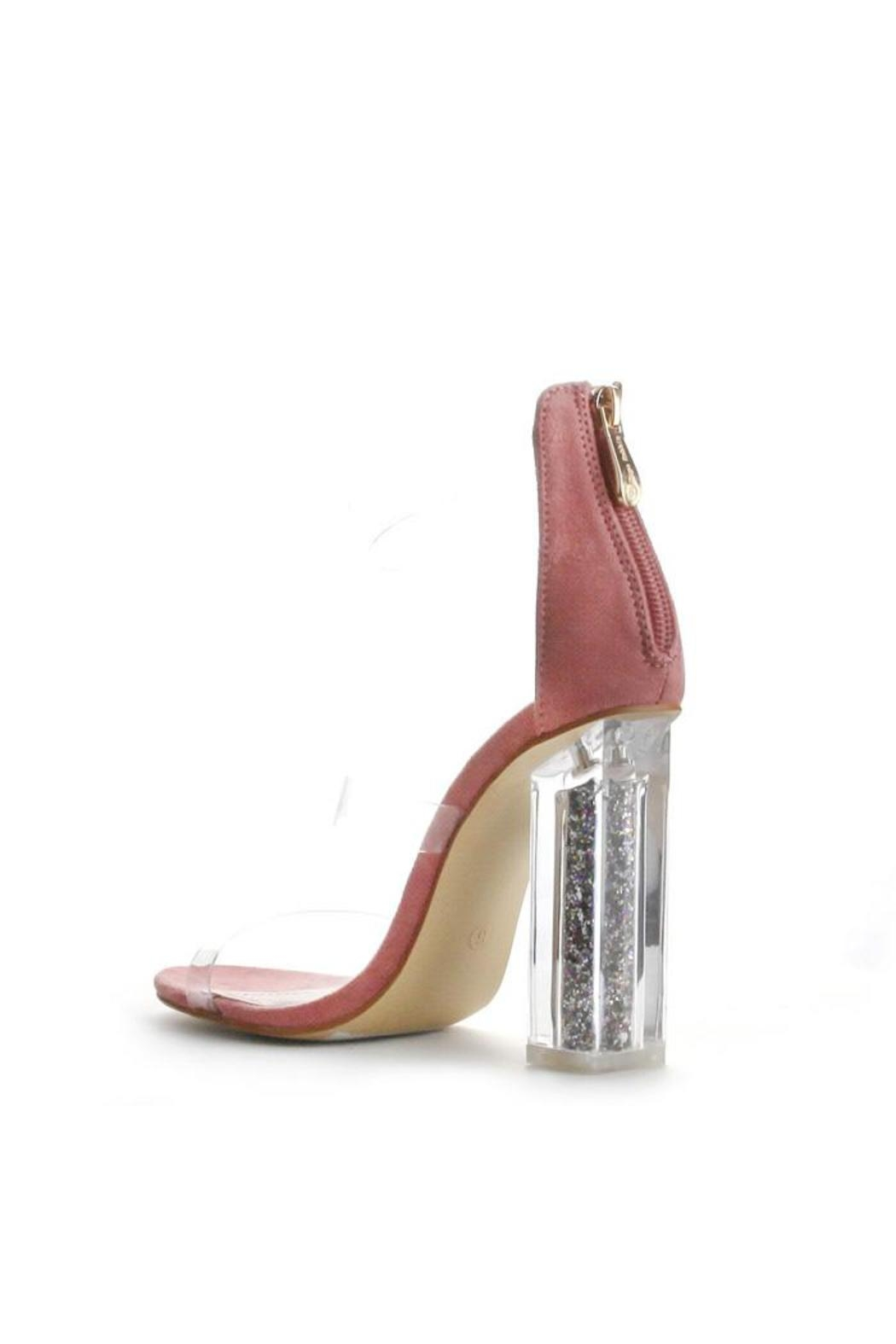 Cape Robbin Maria Pink Strappy Heel - Back Cropped Image