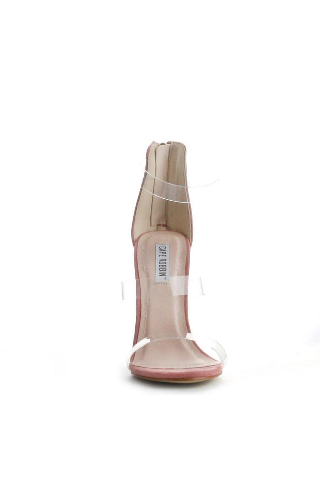 Cape Robbin Maria Pink Strappy Heel - Front Full Image