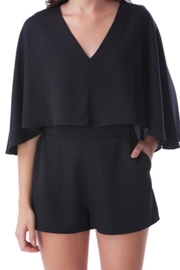 Mustard Seed  Caped Black Romper - Side cropped