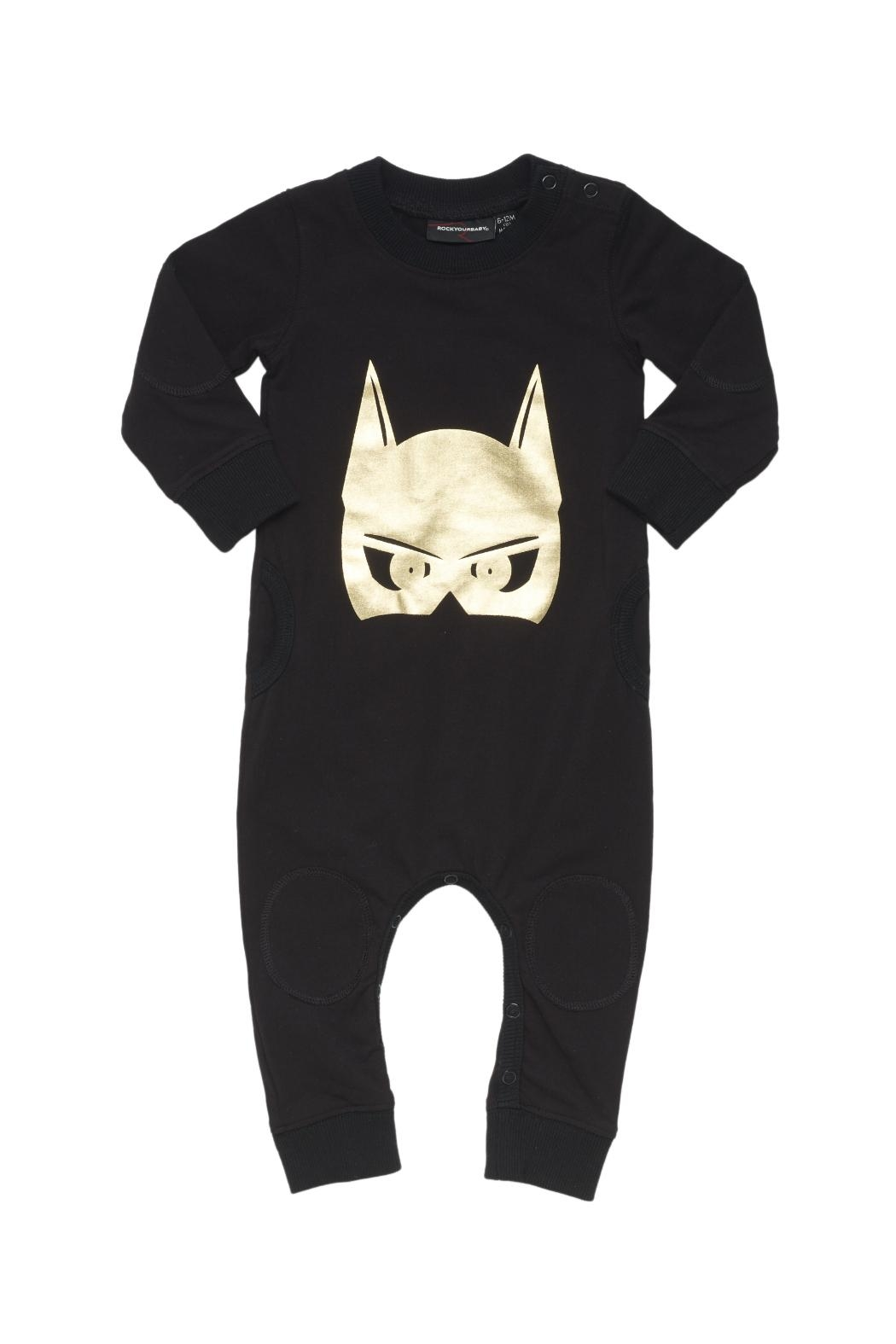Rock Your Baby Caped Crusader Playsuit - Main Image